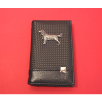 Sprnger Spaniel on Faux Carbon Fibre Black Note book & Pen