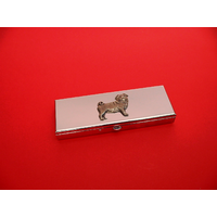 Pug Dog Pewter Motif on Seven Day Pill Box Gift