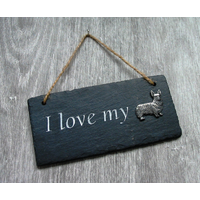 Corgi Dog Design Slate Plaque Valentine Christmas Gift
