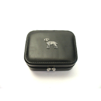 Border Terrier Design Small Black Travel Jewellery Box