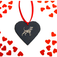 Beagle Dog Design Slate Heart Valentine Christmas Gift