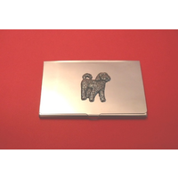 Cockapoo Chrome Plated Business or Credit Card Holder