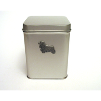 Cocker Spaniel Design Motif Tin Tea Caddy Mother Xmas Gift