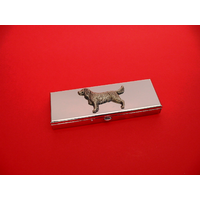 Springer Spaniel Pewter Motif on Seven Day Pill Box Gift
