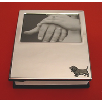 Basset Hound Plated Photograph Album 100 6 x 4 Photos