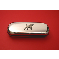 Beagle Motif Chrome Glasses Case Useful Beagle Gift