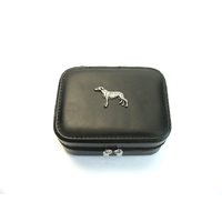 Greyhound Design Small Black Travel Jewellery Box Gift