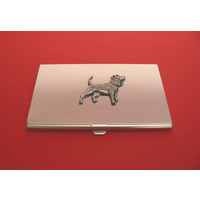 Beagle Chrome Plated Business or Credit Card Holder