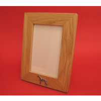 "Greyhound Real Oak Portrait 6"" x 4"" Photo Frame Gift"