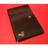 Dachshund A5 Black Journal Notebook Dog Gift