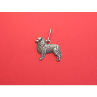 Australian Shepherd Zipper Pull Pewter Pet Gift