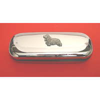 Cocker Spaniel Motif Chrome Glasses Case Useful Christmas Gift