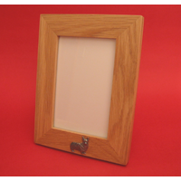 "Corgi Dog Real Oak Portrait 6"" x 4"" Photo Frame Gift"