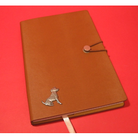 Jack Russell A5 Tan Journal Notebook Dog Gift