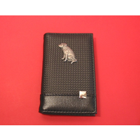 Labrador Retriever on Faux Carbon Fibre Black Note book & Pen