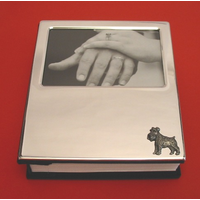 Miniature Schnauzer on Plated Photograph Album 100 6 x 4 Photos