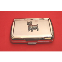 West Highland Terrier on Polish Stainless Steel Tobacco Tin