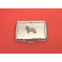 King Charles Spaniel on Polished Stainless Steel Tobacco Tin