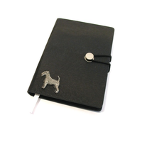 Airedale Terrier A6 Black Journal Notebook Dog Gift