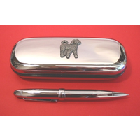 Cockapoo Chrome Pen Box & Pen Stationery Gift