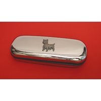 West Highland Terrier Motif Chrome Glasses Case Useful Dog Gift