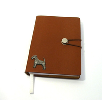 Airedale Terrier A6 Tan Journal Notebook Dog Gift