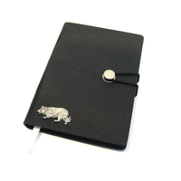 Border Collie A6 Black Journal Notebook Dog Gift