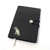 Labrador Retriever A6 Black Journal Notebook Dog Gift