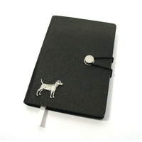 Patterdale Terrier A6 Black Journal Notebook Dog Gift