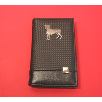 Boxer Dog on Faux Carbon Fibre Black Note book & Pen
