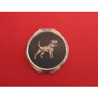 Beagle on Black Round Compact Mirror Useful Gift
