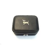 Chihuahua Design Small Black Travel Jewellery Box