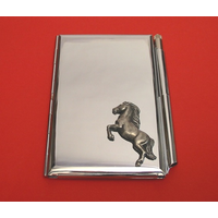Rearing Horse Chrome Notebook & Pen