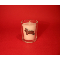 King Charles Motif On Glass Votive Candle Holder Xmas Gift