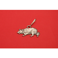 Border Collie Dog Zipper Pull Pewter Pet Gift