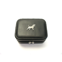 Beagle Design Small Black Travel Jewellery Box Gift