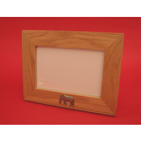 "Grazing Pony Real Oak Landscape 4"" x 6"" Photo Frame Horse Gift"
