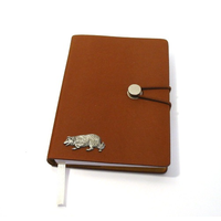 Border Collie A6 Tan Journal Notebook Dog Gift