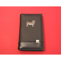 Pug Dog on Faux Carbon Fibre Black Note book & Pen