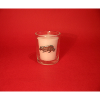 Border Collie Motif On Glass Votive Candle Holder Xmas Gift