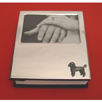 Poodle Dog Motif on Plated Photograph Album 100 6 x 4 Photos