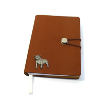 Stafforshire Bull Terrier A6 Tan Journal Notebook Dog Gift