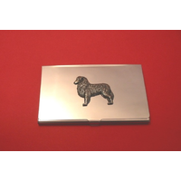 Australian Shepherd Chrome Plated Business or Credit Card Holder
