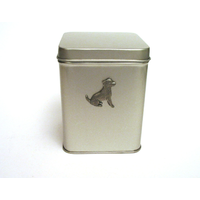 Jack Russell Design Motif Tin Tea Caddy Mother Xmas Gift