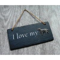 Irish Setter Design Slate Plaque Valentine Christmas Gift