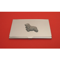 Cocker Spaniel Chrome Plated Business or Credit Card Holder