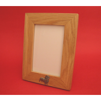 "Dachshund Real Oak Portrait 6"" x 4"" Photo Frame Gift"