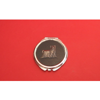 Yorkshire Terrier on Black Round Compact Mirror Useful Gift