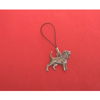 Beagle Dog Mobile Phone Charm Pewter Pet Gift