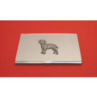 Border Terrier Chrome Plated Business or Credit Card Holder